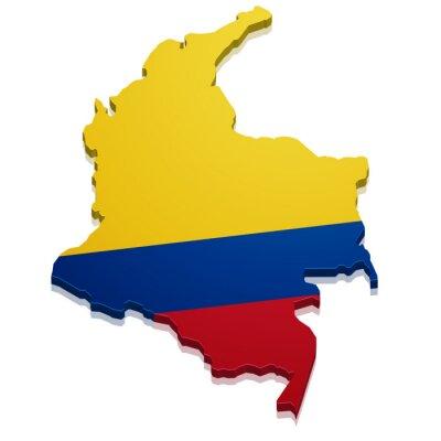 Naklejka Mapa Kolumbia