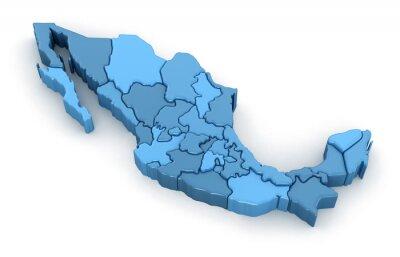 Naklejka Mapa Meksyku.