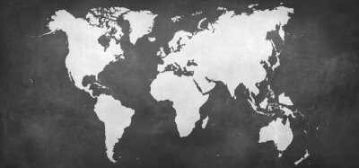 Naklejka Mapa na tle ziemi