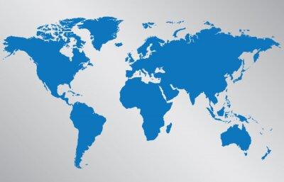 Naklejka Mapa świata ilustracji na szarym tle