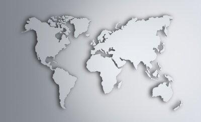 Naklejka Mapa świata. Obraz z wycinek ścieżki