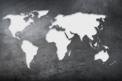 Naklejka mappa Mondiale su lavagna