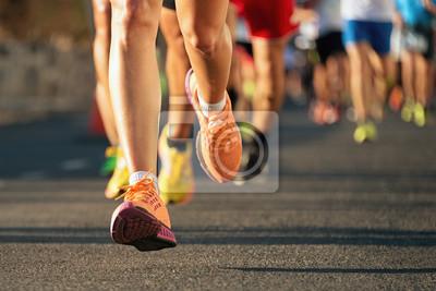 Naklejka Maraton w świetle wieczorem