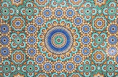 Naklejka Marokański rocznika tło płytek