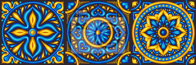 Marokański wzór płytek ceramicznych.