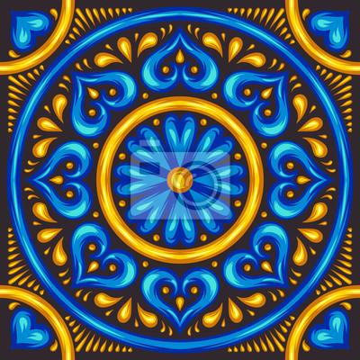 Marokański wzór płytki ceramicznej.