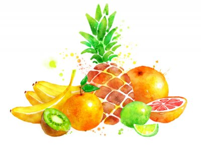 Naklejka Martwa natura z owocami.