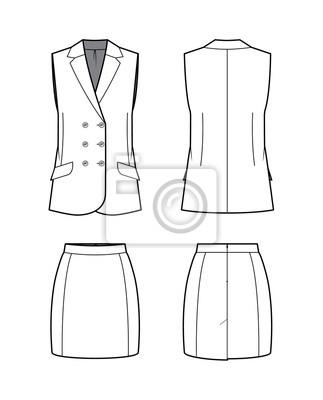 Marynarka i spodnie damskie. Ilustracji wektorowych.