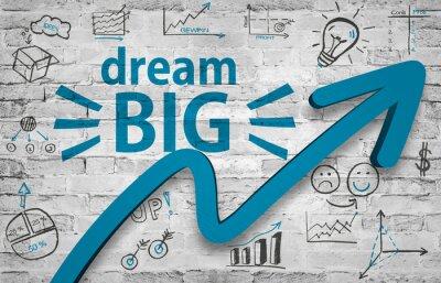 Naklejka Marzyć BIG - i spełnić swoje marzenia