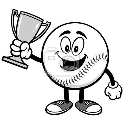 Maskotka baseballowa z ilustracji Trophy