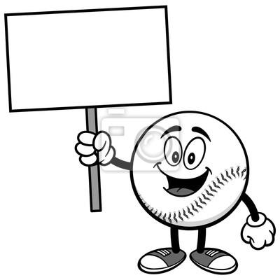Maskotka baseballowa z napisem Stop Sign