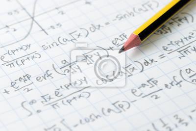 Naklejka Matematyka i formuła inżynierii