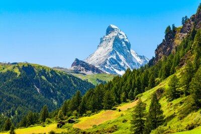 Naklejka Matterhorn mountain range in Switzerland
