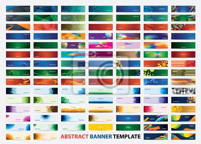 Naklejka Mega collection of 105 colorful banner template. Abstract web banner design.  Header, landing page web design elements.