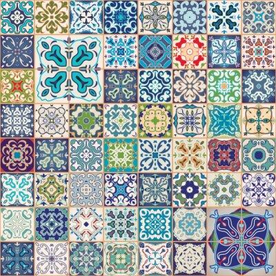 Mega gorgeous bez szwu wz r z kolorowych mozaika for Azulejos antiguos para cocina