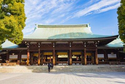 Naklejka Meiji-jingu shrine in Tokyo, Japan