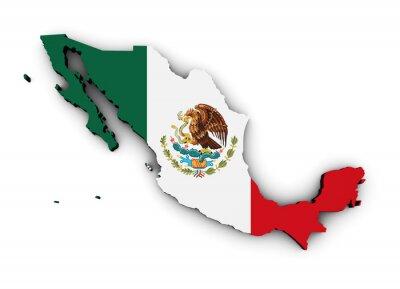 Naklejka Meksyk Oznacz Mapa