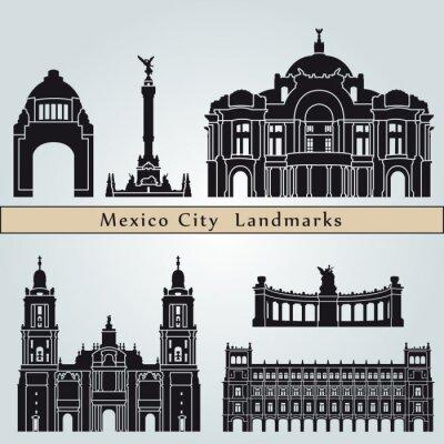 Naklejka Meksyk zabytki i zabytki