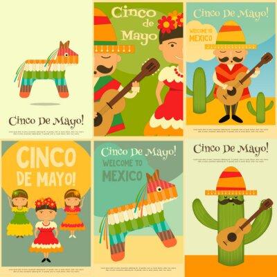 Naklejka meksykańska Plakaty