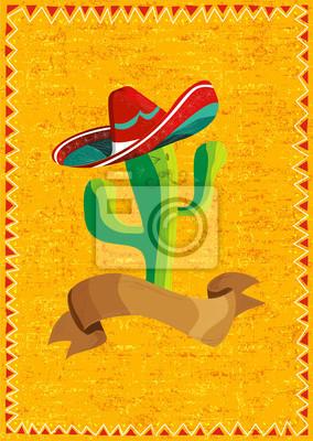 Meksykański kaktus jedzenie na tle grunge