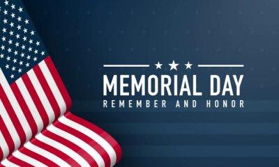 Naklejka Memorial Day Background Design. Vector Illustration.