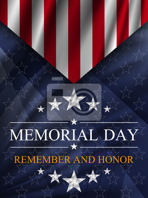 Naklejka Memorial day background. National holiday of the USA. Vector illustration.