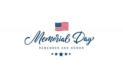 Naklejka Memorial Day text with lettering
