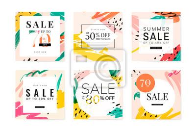 Naklejka Memphis summer sale design collection