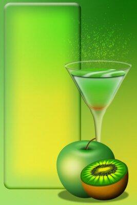 Naklejka Menu-Aperitivo Aperitif Cocktail Menu-Menu 4