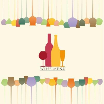 Naklejka Menu wina