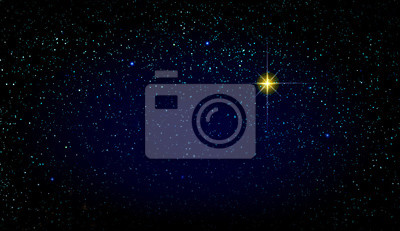 Naklejka Merry Christmas background with colorful stars. Abstract sky background.