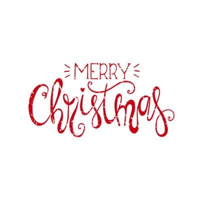 Merry christmas handdrawn litery