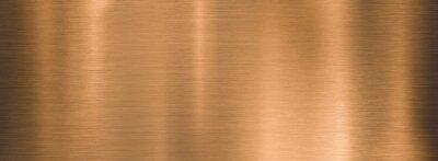 Naklejka metal brushed bronze wide textured plate or plaque