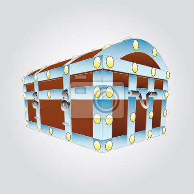 metalowe wzmocnione ilustracji wektorowych w klatce piersiowej