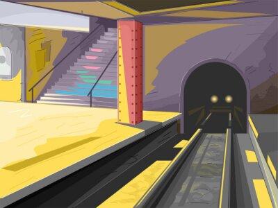 Naklejka Metro Scene