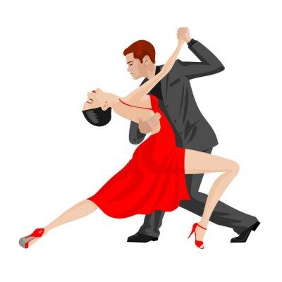Naklejka Mężczyzna i kobieta, taniec