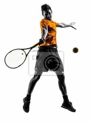 Mężczyzna tenisista sylwetka