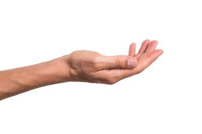 Naklejka Mężczyzna trzyma rękę