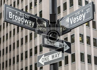 Naklejka Miasto Nowy Jork w Manhattan, USA.