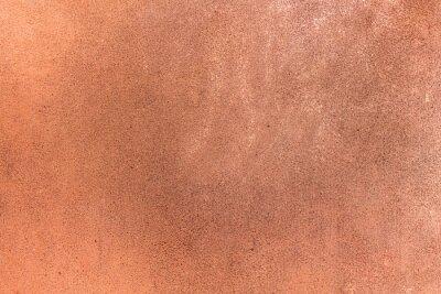 Naklejka Miedziane ściany stiukowe. Antyczny brąz. ulga, bogata brązowa tekstura dla tła. Tekstura, miedź i barwione