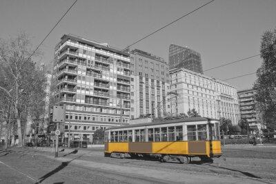 Naklejka Milano e tramwaj w Lombardia Italia Mediolan i szkolenia w Mediolan