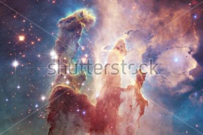 Naklejka Miliardy galaktyk we wszechświecie. Abstract tło. Elementy tego obrazu dostarczone przez NASA