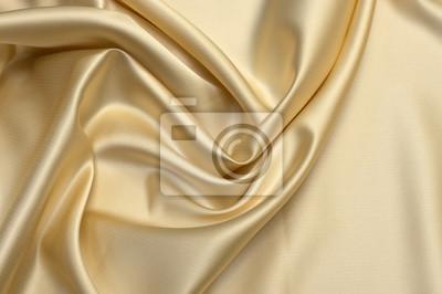 Naklejka Milk-colored taffeta silk fabric artistic layout. Texture, background. template.