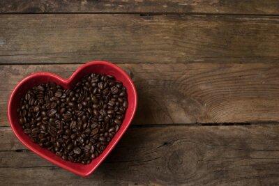 Naklejka miłość do kawy,
