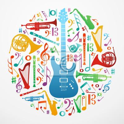 Naklejka Miłość do muzyki ilustracji koncepcji tle