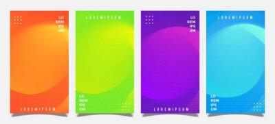 Minimal banner colorful design