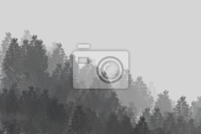 Minimalistyczne drewna / tło / Digital Painting