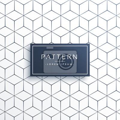Minimalna geometria linii wzoru w kształcie sześciokątnym