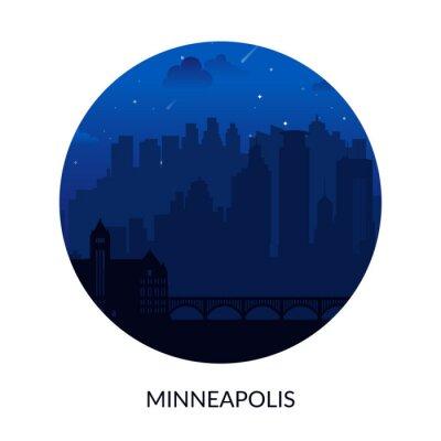 Minneapolis, USA famous city scape view background.