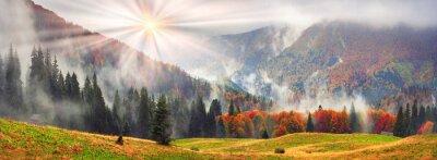 Naklejka Misty jesienią Zakarpacie
